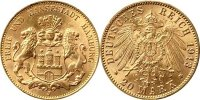 Hamburg 20 Mark 20 Mark 1913 Hamburg -- GOLD --