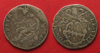 Vatikan  1592 ss CLEMENTE VIII 1592 Teston...