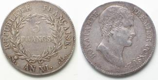 1802-1803 Frankreich FRANKREICH 5 Francs ...
