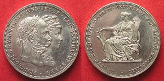 1879 Haus Habsburg K.u.K. Doppelgulden 1879 FRANZ JOSEPH I. & SISSI Silber PRACHTSTÜCK!!! # 94412 PP