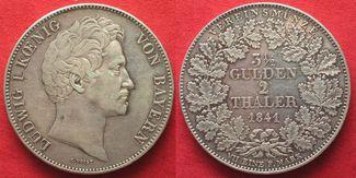 1841 Bayern BAYERN Doppeltaler 1841 LUDWI...