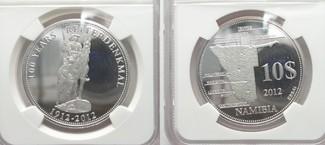 2012 Namibia NAMIBIA - ESSAI 10 $ 2012 REITERDENKMAL Silber nur 50 St.!!! NGC PF68 # 95028 PP