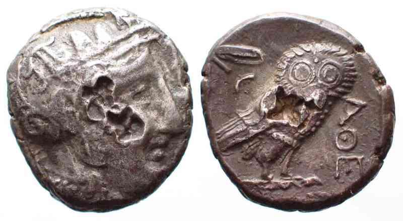 ATHEN-AR-Tetradrachme-393-300-Athena-Eule-vz-42097