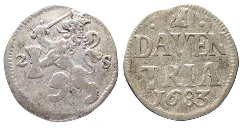 Holanda (Leventer), doble Stuiver, 1683. 52127