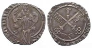 Vatikan - Avignon  PAPAL AVIGNON Carlin MARTIN V (1417-1431) silver VF+ # 62784