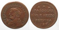 Vatikan - Perugia  PAPAL PERUGIA 2-1/2 Baiocchi 1796 PIUS VI copper VF RARE!!! # 64114