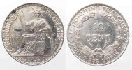 Franz. Indochina  FRENCH INDOCHINA 10 Cents 1902 A silver aUNC!!! # 77808