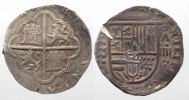 Spanien  SPAIN 4 Reales ND(1556-98) Valladolid PHILIP II silver VF # 77813