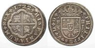 Spanien  SPAIN 2 Reales 1722 SJ Seville PHILIP V silver VF+! # 77825