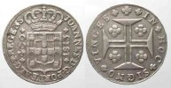 Portugal  PORTUGAL 400 Reis (Pinto) 1813 JOAO as Prince Regent silver VF+ # 77833