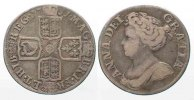 England  GREAT BRITAIN Shilling 1711 ANNE fourth bust silver VF # 77891