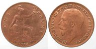 England  GREAT BRITAIN Penny 1913 GEORGE V bronze UNC!!! # 77904