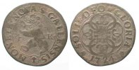 Schweiz - St. Gallen  SAINT GALL City Batzen (4 Kreuzer) 1724 billon VF # 77941