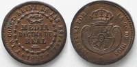 Spanien  SPAIN 1/20 Real 1853 ISABEL II Copper aUNC!!! # 77994