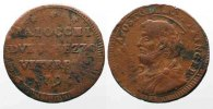 Vatikan - Viterbo  PAPAL VITERBO 2-1/2 Baiocchi 1796 PIUS VI copper VF SCARCE!!! # 78338
