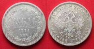 Russland  1878 ss+/ss-vz RUSSLAND 1 Rubel ...