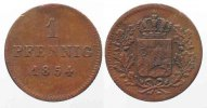 Bayern  Germany BAVARIA 1 Pfennig 1854 MAXIMILIAN II copper VF # 79594