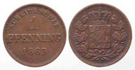 Bayern  Germany BAVARIA 1 Pfennig 1863 MAXIMILIAN II copper VF # 79595