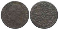 Spanien  SPAIN 2 Maravedis 1776 Segovia CARLOS III copper F SCARCE YEAR! # 86307