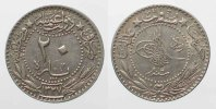 Türkei  TURKEY 20 Para AH1327-6(1914) MUHAMMAD V nickel VF+ # 86952