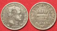 Italien  NAPOLEONE Re d'Italia 5 Soldi 1811 M MILANO argento BB+ # 91858