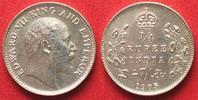 1905 Indien Britisch BRITISH INDIA 1/4 Rupee 1905 EDWARD VII silver UN... 44,99 EUR  +  5,00 EUR shipping