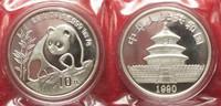 1990 China CHINA 10 Yuan 1990 Panda 1 ounce pure silver SEALED BU! # 9... 69,99 EUR  +  5,00 EUR shipping