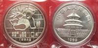 1989 China CHINA 10 Yuan 1989 Panda 1 ounce pure silver SEALED BU! # 9... 64,99 EUR  +  5,00 EUR shipping