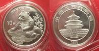 1998 China CHINA 10 Yuan 1998 Panda 1 ounce pure silver SEALED BU! # 9... 109,99 EUR  +  6,50 EUR shipping