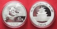 2014 China CHINA 10 Yuan 2014 Panda 1 ounce pure silver BU # 94391 st  29,99 EUR  +  5,00 EUR shipping