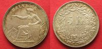 1874 Schweiz EIDGENOSSENSCHAFT 5 Franken ...