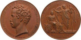 Anhalt-Dessau Bronze Medaille 1842 Schne ...