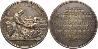 Sachsen-Albertinische Linie Silbermedaille...