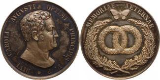 Silbermedaille oJ 1829 Sachsen-Weimar-Eise...