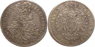Reichstaler 1695 Haus Habsburg Leopold I. ...