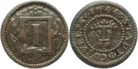 Coesfeld I Pfennig 1644 Patina, sehr schn 