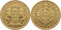 20 Mark Gold 1884  J Hamburg  winz. Randfehler, winz. Kratzer, sehr sch... 325,00 EUR  +  5,00 EUR shipping