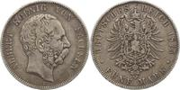 5 Mark 1875  E Sachsen Albert 1873-1902. Winz. Randfehler, fast sehr sc... 50,00 EUR  +  5,00 EUR shipping