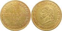 V Taler Gold 1821  B Braunschweig - Calenberg - Hannover Georg IV. 1820... 875,00 EUR free shipping