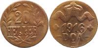 20 Heller 1916  T Deutsch Ostafrika  Sehr schön  35,00 EUR  +  5,00 EUR shipping