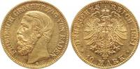 10 Mark Gold 1881  G Baden Friedrich I. 18...