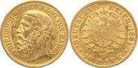 10 Mark Gold 1881  G Baden Friedrich I. 1856-1907. kleine Prägeschwäche... 245,00 EUR  +  5,00 EUR shipping