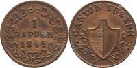 1 Rappen 1844 Schweiz-Luzern, Stadt  Randfehler, sehr schön-vorzüglich  5,00 EUR  +  5,00 EUR shipping