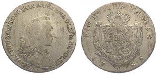 Taler 1785  B Schlesien-Württemberg-Öls Ka...