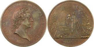 Bronzemedaille 1770 Frankreich Louis XV. 1...