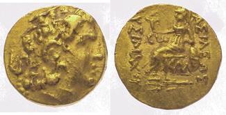 Gold 323-281  v. Chr. Thrakia Lysimachos 3...