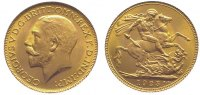 Großbritannien Sovereign  Gold George V. 1910-1936.