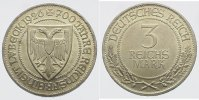 Weimarer Republik 3 Mark 1926 A Feine Pati...