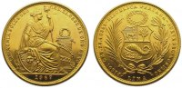 Peru 50 Soles  Gold Republik seit 1821/1825.