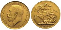 Südafrika Sovereign  Gold George V. 1910-1936.